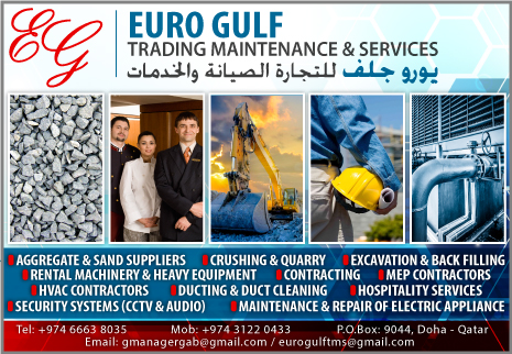AGGREGATE & SAND SUPPLIERS EURO GULF TRADING MAINTENANCE & SERVICES WLL SUPPLIERS IN DOHA QATAR CL2H