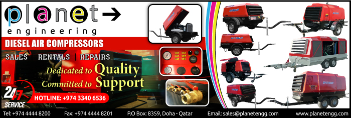 AIR COMPRESSORS PLANET TRADING & TRANSPORTATION WLL SUPPLIERS IN DOHA QATAR CL1/4H