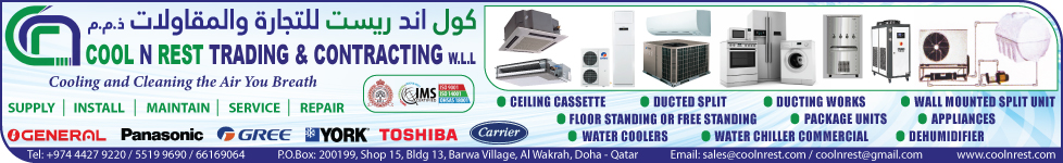 AIR CONDITIONING CONTRACTORS COOL N REST TRADING WLL SUPPLIERS IN DOHA QATAR WSTBBA