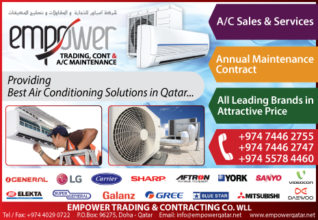 AIR CONDITIONING CONTRACTORS EMPOWER TRADING & CONTRACTING CO WLL SUPPLIERS IN DOHA QATAR CL2H