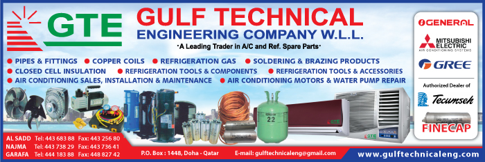 AIR CONDITIONING CONTRACTORS GULF TECHNICAL ENGINEERING CO WLL SUPPLIERS IN DOHA QATAR CL1/4H