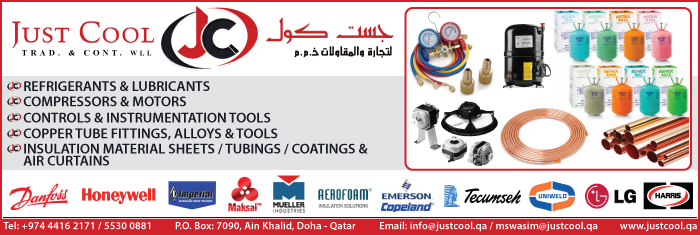 AIR CONDITIONING CONTRACTORS JUST COOL TRADING & CONTRACTING CO WLL SUPPLIERS IN DOHA QATAR CL1/4H
