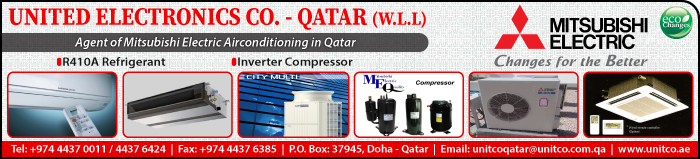 AIR CONDITIONING CONTRACTORS UNITED ELECTRONICS CO QATAR WLL SUPPLIERS IN DOHA QATAR CLPL