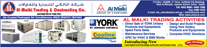 AIR CONDITIONING EQUIPT & SYSTEMS AL MALKI TRADING & CONTG CO SUPPLIERS IN DOHA QATAR CLPL