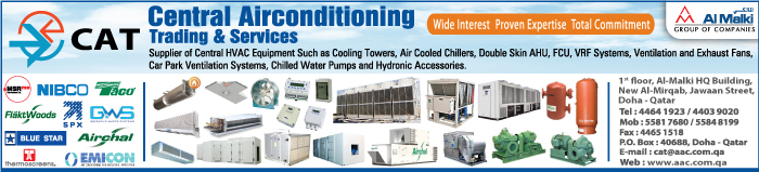 AIR CONDITIONING EQUIPT & SYSTEMS CENTRAL AIRCONDITIONING TRDG & SVCS CO SUPPLIERS IN DOHA QATAR CLPL