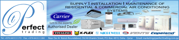 AIR CONDITIONING EQUIPT & SYSTEMS PERFECT TRADING SUPPLIERS IN DOHA QATAR CLPL