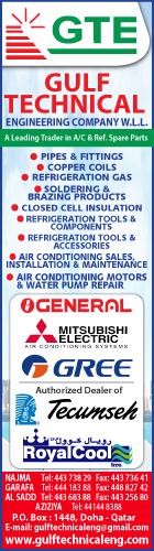 AIR CONDITIONING SUPPLIES & PARTS GULF TECHNICAL ENGINEERING CO WLL SUPPLIERS IN DOHA QATAR WSRBBA