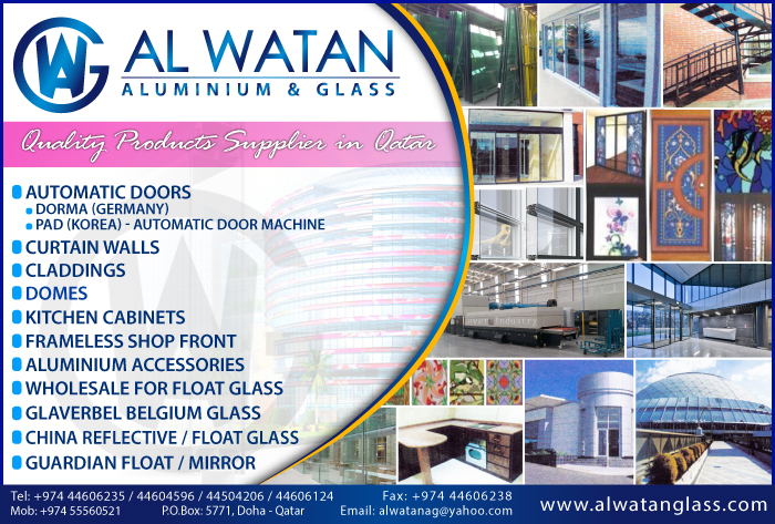 ALUMINIUM FABRICATORS AL WATAN ALUMINIUM & GLASS WLL SUPPLIERS IN DOHA QATAR CL1/2H
