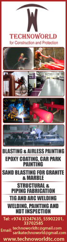 BLASTING & PAINTING CONTRACTORS TECHNOWORLD TRADING & CONTRACTING WLL SUPPLIERS IN DOHA QATAR WSRBBA
