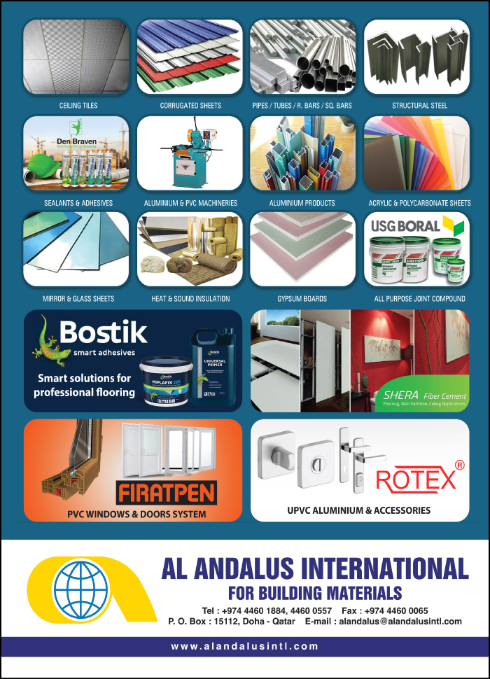 BUILDING MATERIALS AL ANDALUS INTERNATIONAL FOR BUILDING MATERIALS SUPPLIERS IN DOHA QATAR CLFP