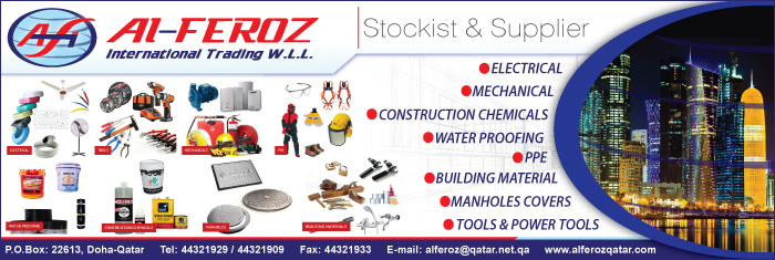 BUILDING MATERIALS AL FEROZ INTERNATIONAL TRADING WLL SUPPLIERS IN DOHA QATAR CL1/4H