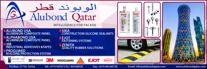 BUILDING MATERIALS ALUBOND QATAR WLL SUPPLIERS IN DOHA QATAR CL1/4H