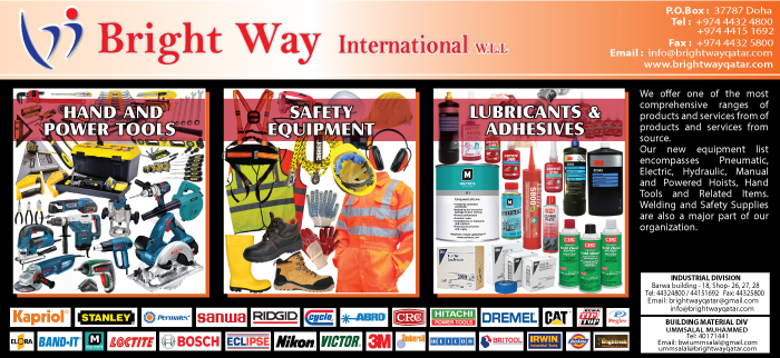 BUILDING MATERIALS BRIGHT WAY INTERNATIONAL WLL SUPPLIERS IN DOHA QATAR CL3H