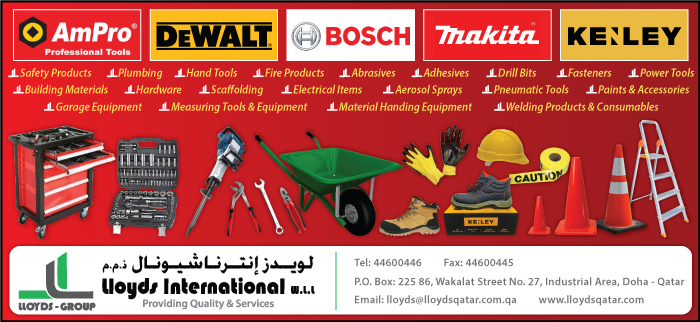 BUILDING MATERIALS LLOYDS INTERNATIONAL WLL SUPPLIERS IN DOHA QATAR CL3H