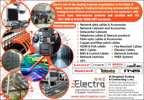 CABLE & WIRE SUPPLIERS ELECTRA - AL SHAGHAIRI TRADING & CONTRACTING CO WLL (TRADING DIV) SUPPLIERS IN DOHA QATAR CL2H