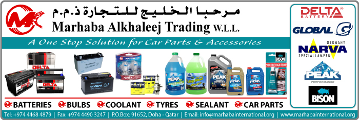 CAR PARTS & ACCESSORIES MARHABA ALKHALEEJ TRADING WLL SUPPLIERS IN DOHA QATAR CL1/4H