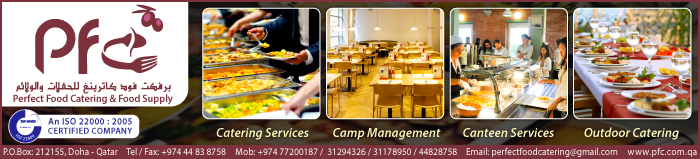 CATERERS & SUPPORT SERVICES PERFECT FOOD CATERING & FOOD SUPPLY SUPPLIERS IN DOHA QATAR CLPL