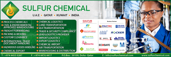 CHEMICAL LOGISTICS SERVICES SULFUR CHEMICAL TRADING CO WLL SUPPLIERS IN DOHA QATAR CL1/4H