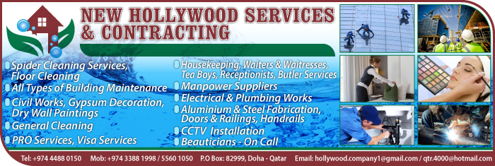CLEANING & HOUSEKEEPING SERVICES NEW HOLLYWOOD SERVICES & CONTRACTING SUPPLIERS IN DOHA QATAR CL1/4H