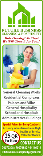 CLEANING SERVICES FUTURE BUSINESS CLEANING & HOSPITALITY SUPPLIERS IN DOHA QATAR