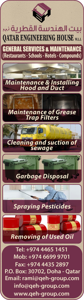 CLEANING SERVICES QATAR ENGINEERING HOUSE WLL SUPPLIERS IN DOHA QATAR
