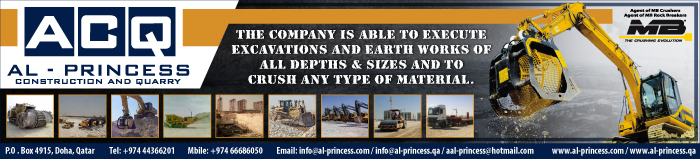 CONSTRUCTION EQUIPMENT & MACHINERY SUPPLIERS AL PRINCESS CONSTRUCTION & QUARRY SUPPLIERS IN DOHA QATAR CLPL