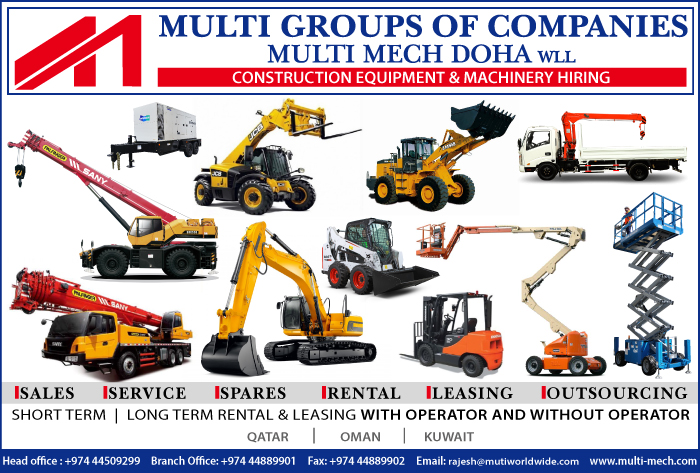 CONSTRUCTION EQUIPT & MACHINERY - HIRING MULTI MECH DOHA WLL SUPPLIERS IN DOHA QATAR CL1/2H