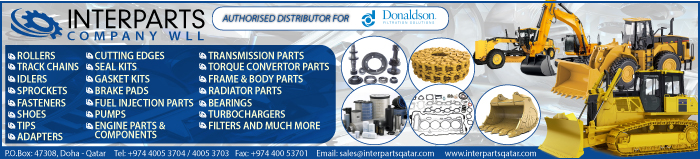 CONSTRUCTION EQUIPT & MACHINERY SUPPLIERS INTERPARTS COMPANY WLL SUPPLIERS IN DOHA QATAR CLPL