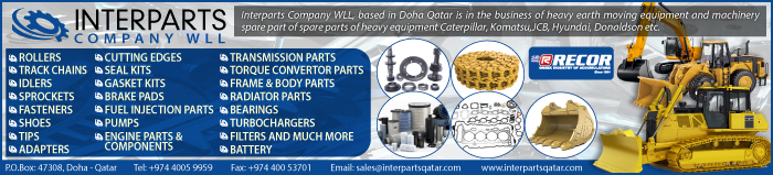 CONSTRUCTION EQUIPT & MACHINERY SUPPLIERS INTERPARTS COMPANY WLL SUPPLIERS IN DOHA QATAR