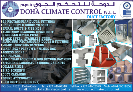 DUCT MANUFACTURERS DOHA CLIMATE CONTROL WLL SUPPLIERS IN DOHA QATAR CL2H