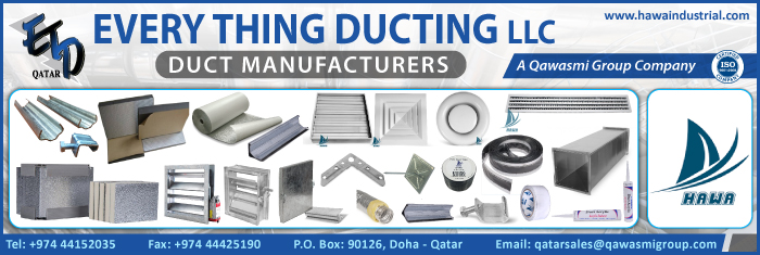 DUCT MANUFACTURERS EVERY THING DUCTING TRADING & CONTRACTING SUPPLIERS IN DOHA QATAR CL1/4H