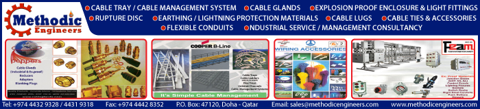 ELECTRICAL ACCESSORIES SUPPLIERS METHODIC ENGINEERS WLL SUPPLIERS IN DOHA QATAR CLPL