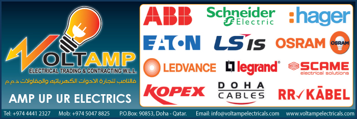 ELECTRICAL ACCESSORIES SUPPLIERS VOLTAMP ELECTRICAL TRADING & CONTRACTING WLL SUPPLIERS IN DOHA QATAR CL1/4H