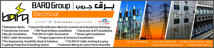 ELECTRICAL CONTRACTORS & ELECTRICIANS BARQ ELECTRICALS SUPPLIERS IN DOHA QATAR CLPL