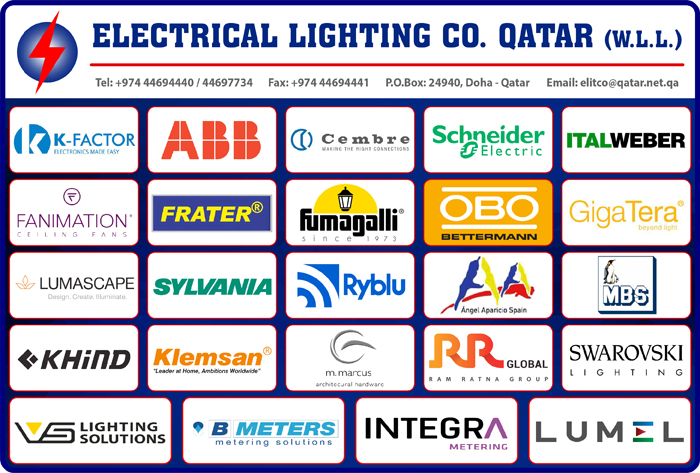 ELECTRICAL EQUIPMENT SUPPLIERS ELECTRICAL LIGHTING CO QATAR WLL SUPPLIERS IN DOHA QATAR CL1/2H