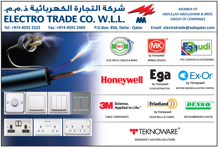 ELECTRICAL EQUIPT SUPPLIERS ELECTRO TRADE CO WLL SUPPLIERS IN DOHA QATAR CL1/2H