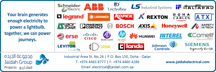 ELECTRICAL EQUIPT SUPPLIERS JAIDAH MOTORS & TRADING CO ( ELECTRICAL DIV ) SUPPLIERS IN DOHA QATAR CL1/4H