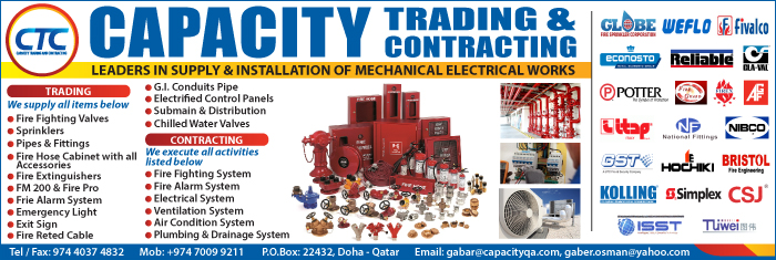 ELECTRO - MECHANICAL CONTRACTORS CAPACITY TRADING & CONTRACTING SUPPLIERS IN DOHA QATAR CL1/4H