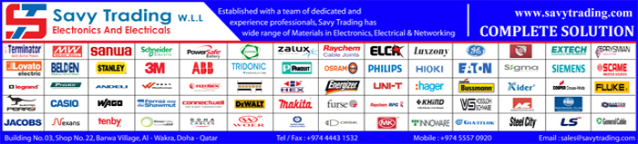 ELECTRONIC COMPONENT SUPPLIERS SAVY TRADING WLL SUPPLIERS IN DOHA QATAR CLPL