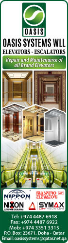 ELEVATORS & ESCALATORS - SALES - INSTALLATION & MAINTENANCE OASIS SYSTEMS WLL SUPPLIERS IN DOHA QATAR
