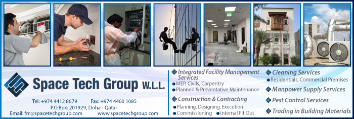 FACILITIES MANAGEMENT SPACE TECH GROUP WLL SUPPLIERS IN DOHA QATAR CL1/4H