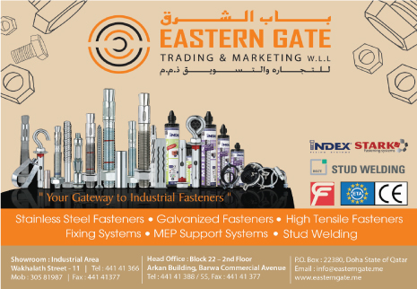 FASTENERS EASTERN GATE TRADING & MARKETING WLL SUPPLIERS IN DOHA QATAR CL2H