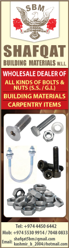 FASTENERS SHAFQAT BUILDING MATERIALS WLL SUPPLIERS IN DOHA QATAR WSLBBA