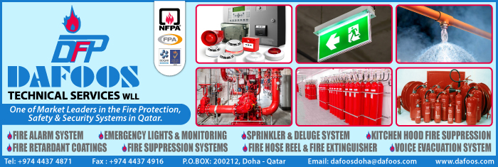 FIRE ALARM MAINTENANCE DAFOOS TECHNICAL SERVICES WLL SUPPLIERS IN DOHA QATAR CL1/4H