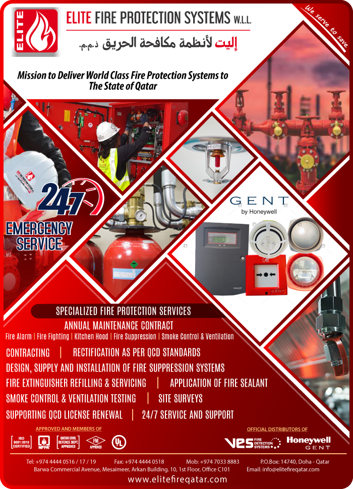 FIRE ALARM MAINTENANCE ELITE FIRE PROTECTION SYSTEMS WLL SUPPLIERS IN DOHA QATAR CLFP