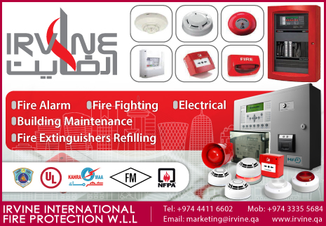 FIRE ALARM MAINTENANCE IRVINE INTERNATIONAL FIRE PROTECTION WLL SUPPLIERS IN DOHA QATAR CL2H