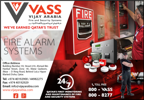 FIRE ALARM MAINTENANCE VIJAY ARABIA FIRE & SECURITY SYSTEMS WLL SUPPLIERS IN DOHA QATAR CL2H
