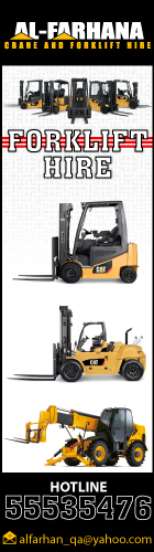 FORKLIFT HIRE SERVICES AL FARHANA TRADING & TRANSPORT CO WLL SUPPLIERS IN DOHA QATAR