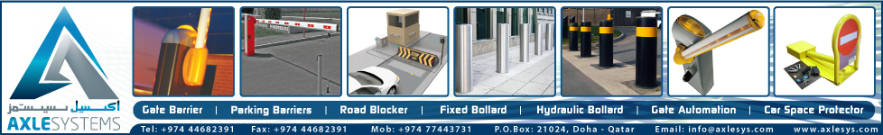 GATE BARRIER SYSTEM AXLESYSTEMS SUPPLIERS IN DOHA QATAR WSTBBA