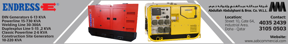 GENERATOR SUPPLIERS ABDULLAH ABDULGHANI & BROS CO WLL ( C & I - INDUSTRIAL ) SUPPLIERS IN DOHA QATAR WSTBBA